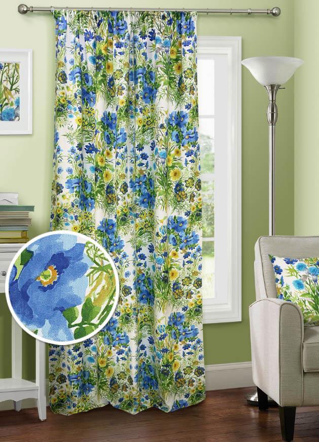 Шторы Kauffort Классические шторы Primavera Цвет: Голубой шторы kauffort классические шторы barolo