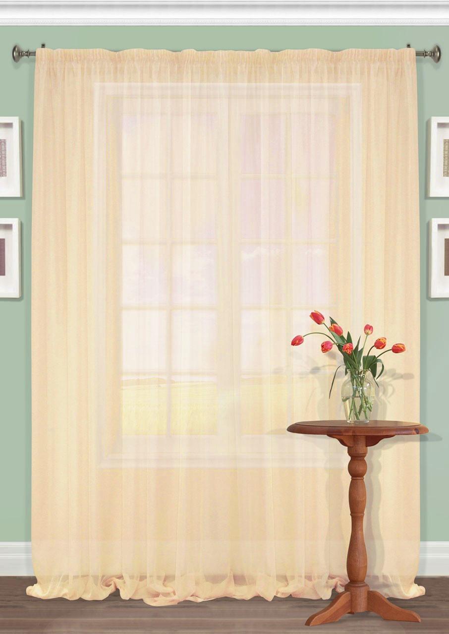 Шторы Kauffort Классические шторы Nina Цвет: Персиковый шторы интерьерные kauffort штора provence k на тесьме 136х175