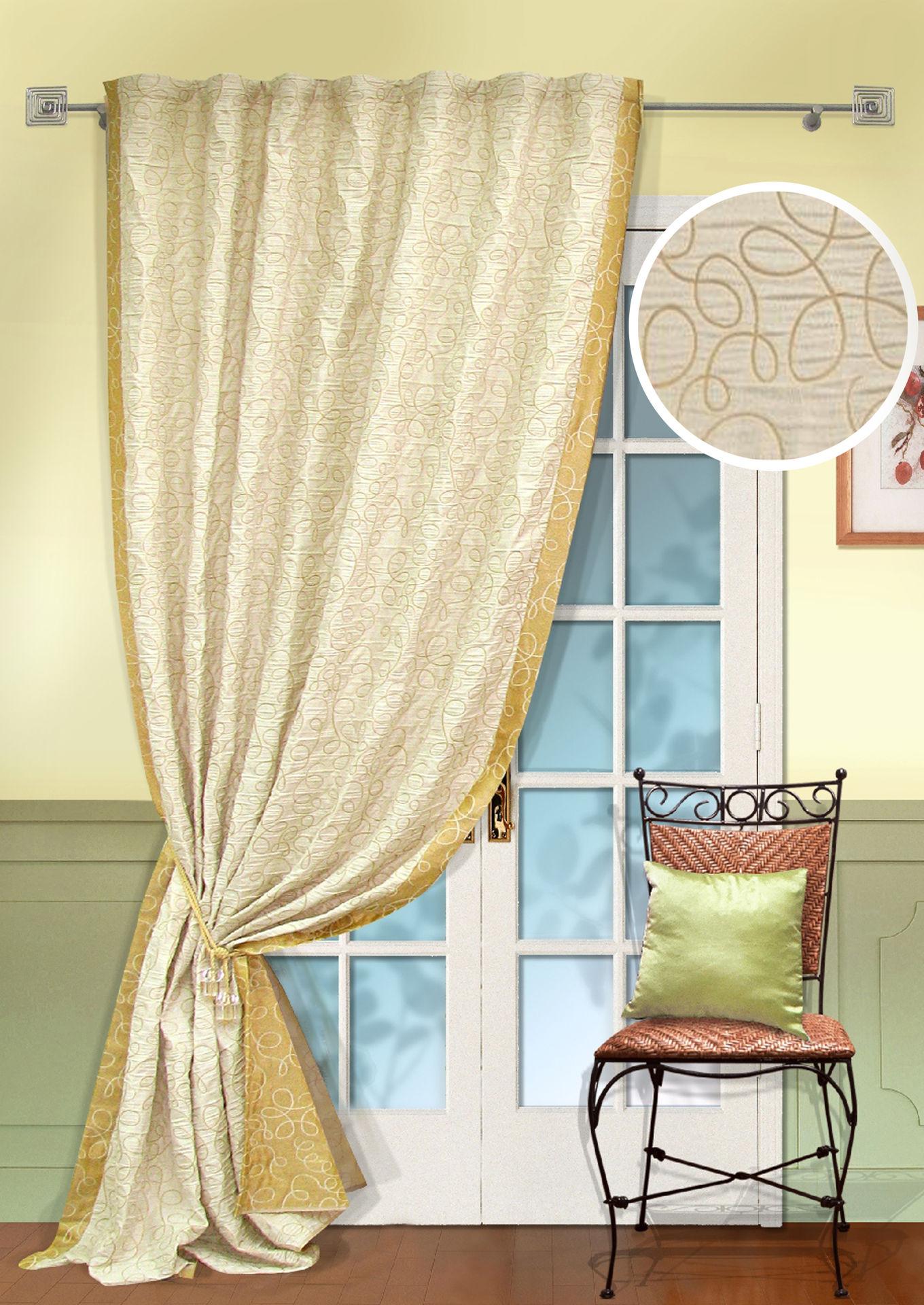 Шторы Kauffort Классические шторы Minor  -XL Цвет: Шампань шторы kauffort классические шторы cresh xl цвет шампань