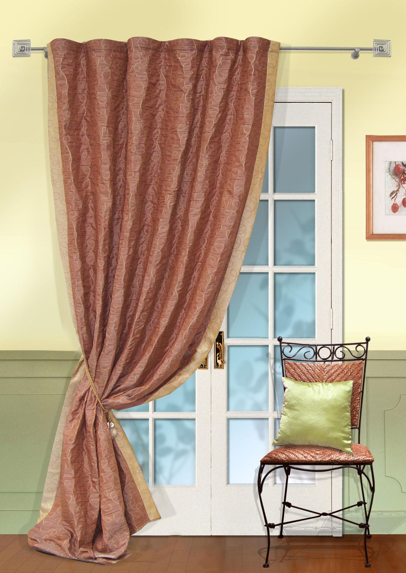 Шторы Kauffort Классические шторы Minor  -XL Цвет: Терракотовый шторы kauffort классические шторы cresh xl цвет шампань