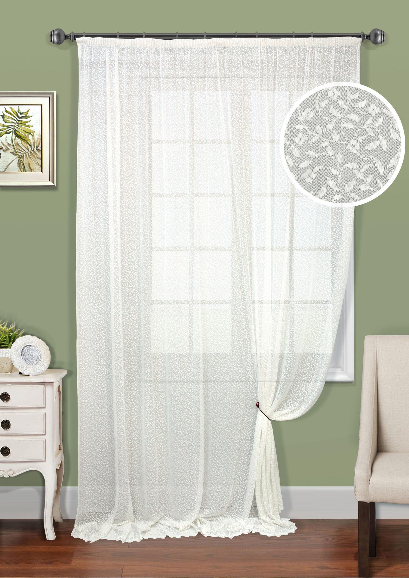 Шторы Kauffort Классические шторы Lesya-XL как тюль на окно