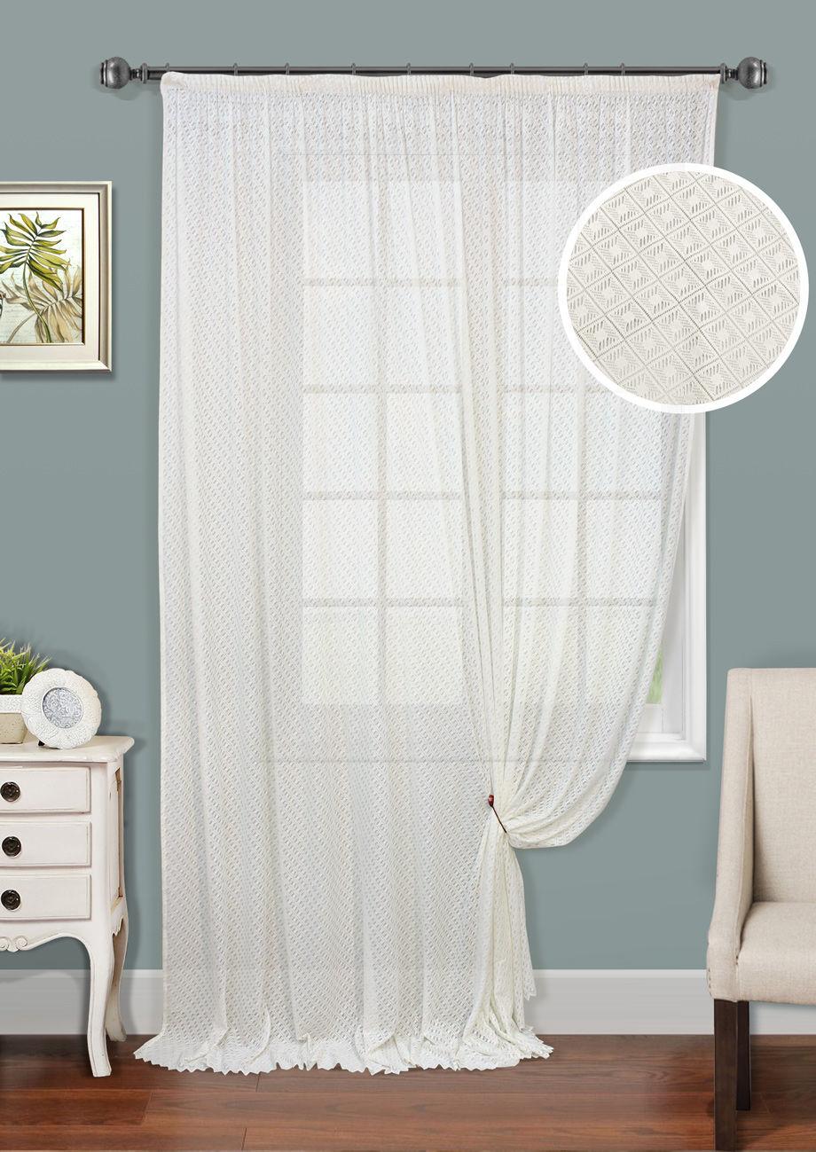 Шторы Kauffort Классические шторы Lis-XL как тюль на окно