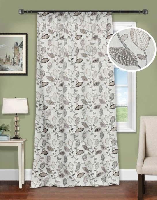 Шторы Kauffort Классические шторы Montana - XL Цвет: Серый шторы kauffort классические шторы cresh xl цвет шампань