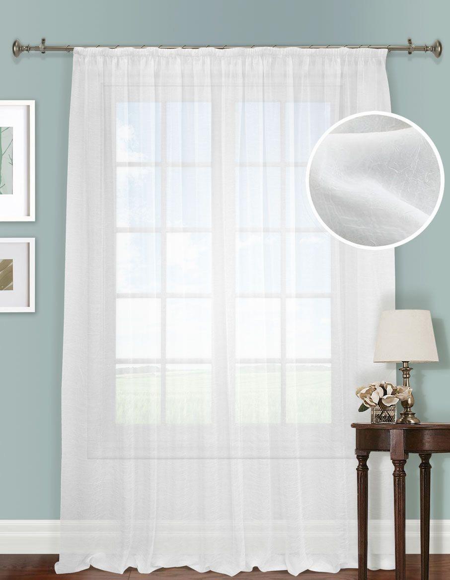 Шторы Kauffort Классические шторы Cresh - XL Цвет: Белый шторы kauffort классические шторы montana xl цвет фиолетовый желтый