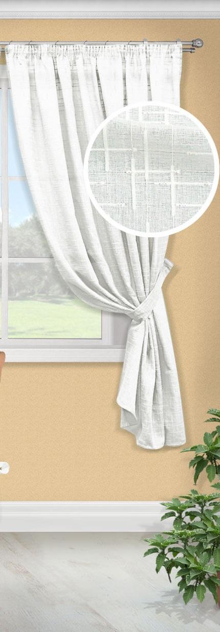 Шторы Kauffort Классические шторы Arena-K Цвет: Белый шторы интерьерные kauffort штора provence k на тесьме 136х175