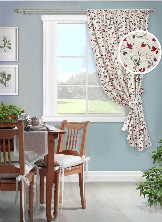 Шторы Kauffort Классические шторы Laurelle Цвет: Розовый kauffort комплект штор laurelle s 2 шторы 136х175см 2 подхвата