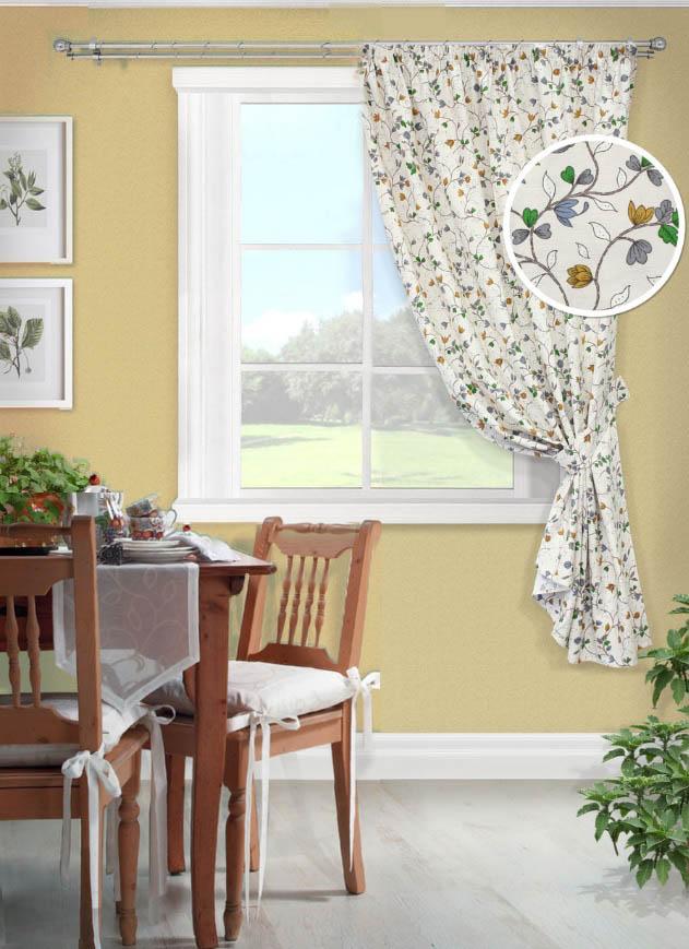 Шторы Kauffort Классические шторы Laurelle Цвет: Голубой kauffort комплект штор laurelle s 2 шторы 136х175см 2 подхвата