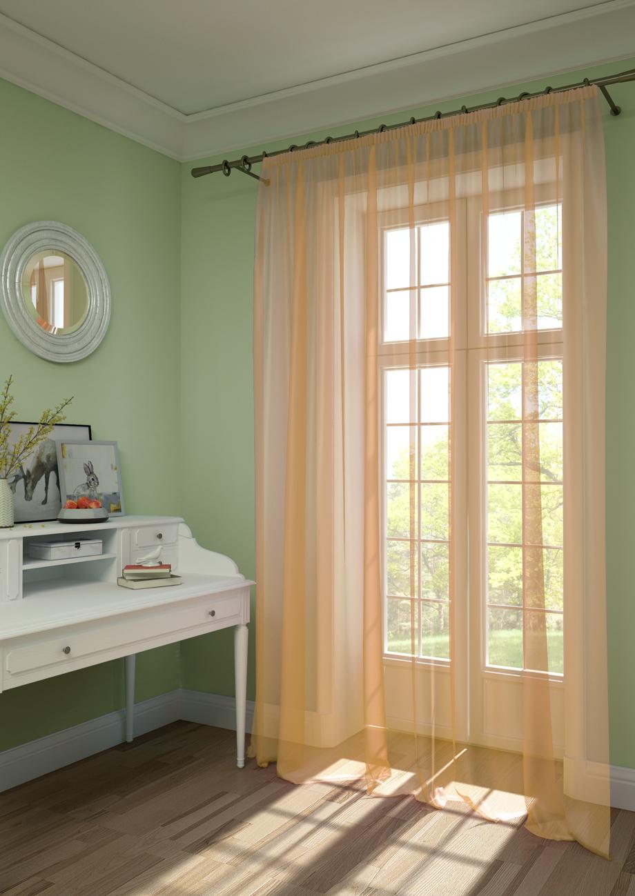 Шторы Kauffort Классические шторы Pastel Цвет: Персиковый шторы интерьерные kauffort штора provence k на тесьме 136х175