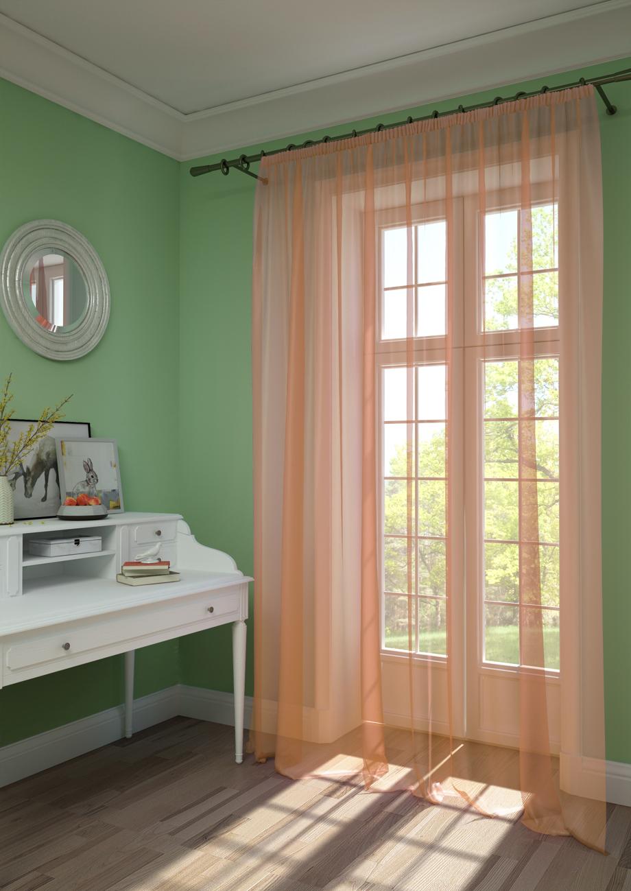 Шторы Kauffort Классические шторы Pastel Цвет: Розово-Персиковый шторы tac классические шторы winx цвет персиковый 200x265 см
