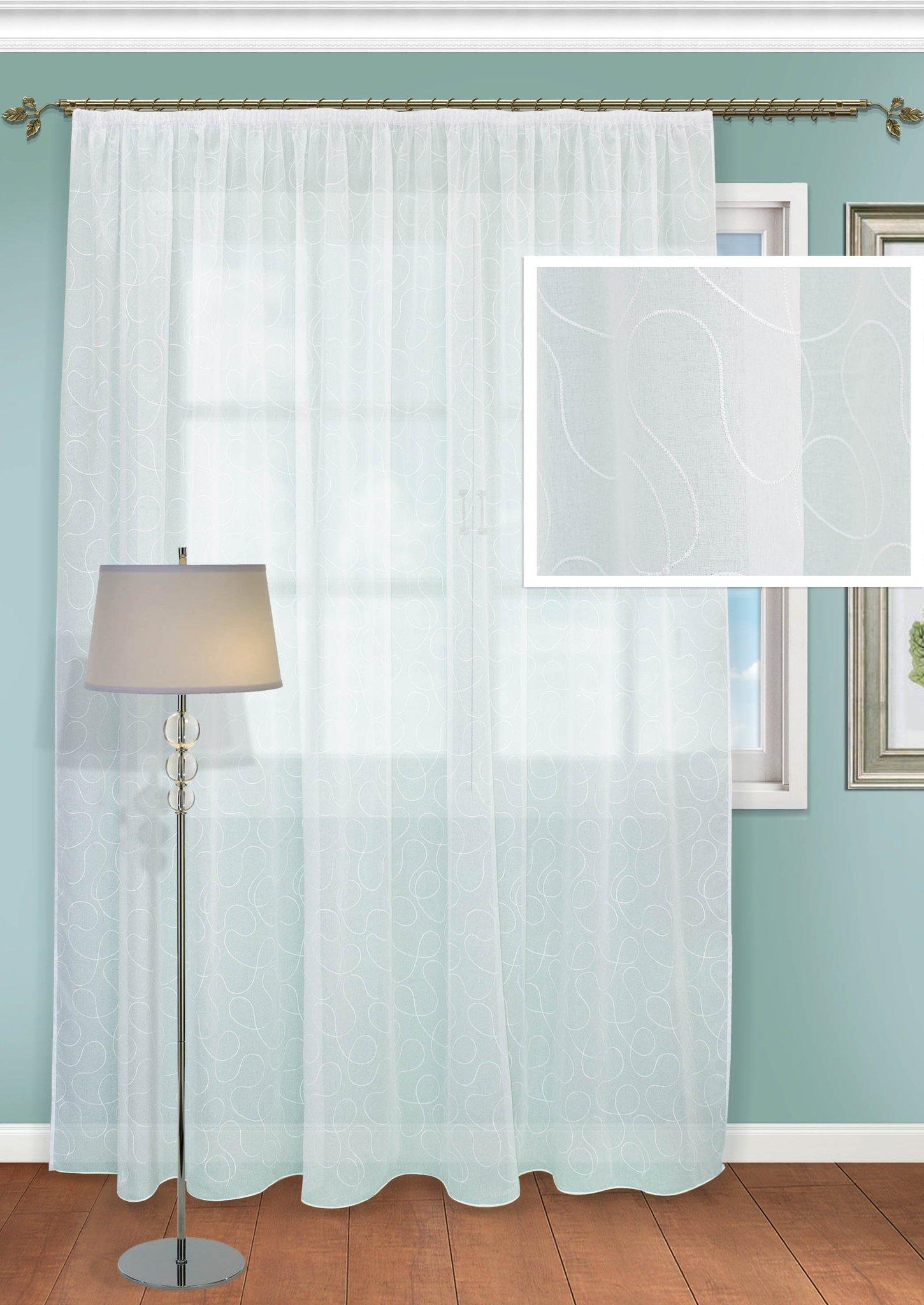 Шторы Kauffort Классические шторы Savayardi-XL Цвет: Белый шторы kauffort классические шторы montana xl цвет фиолетовый желтый
