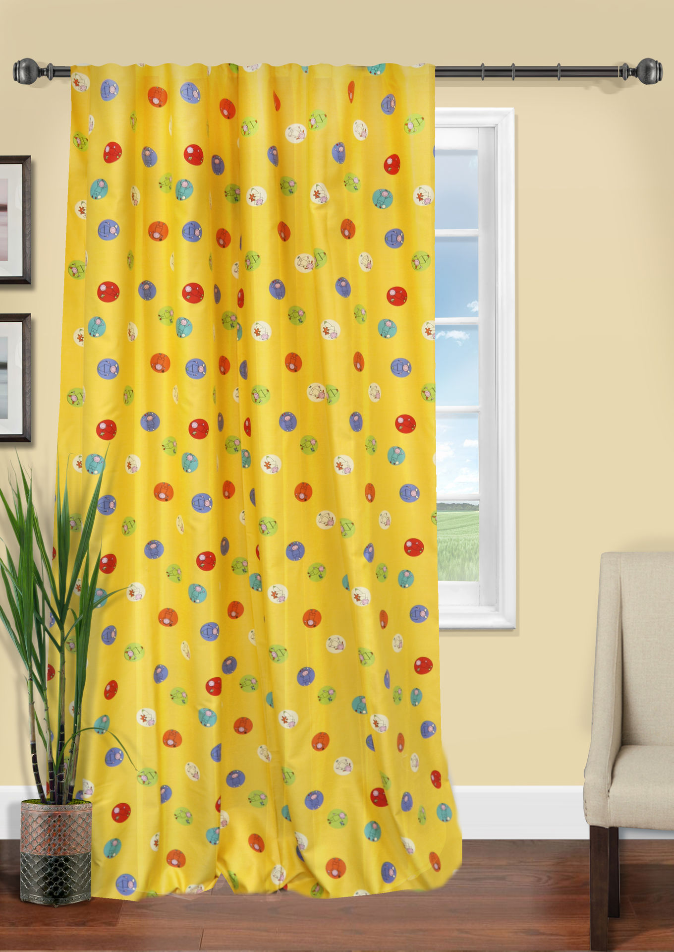 Шторы Kauffort Классические шторы Tazos Цвет: Желтый шторы kauffort классические шторы montana xl цвет фиолетовый желтый