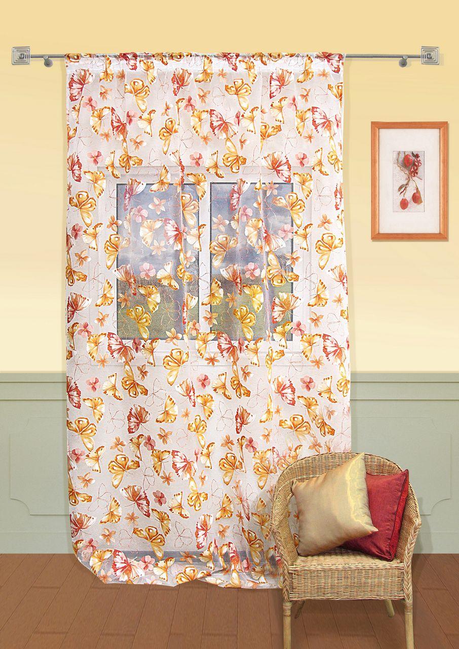 Шторы Kauffort Классические шторы Mariposas-M Цвет: Оранжевый шторы kauffort классические шторы primavera st цвет оранжевый