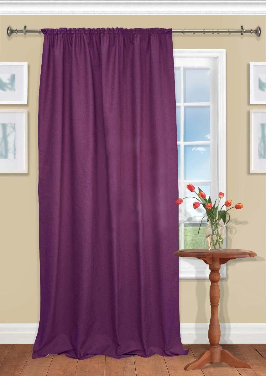 Шторы Kauffort Классические шторы Hosta Цвет: Фиолетовый шторы kauffort классические шторы montana xl цвет фиолетовый желтый