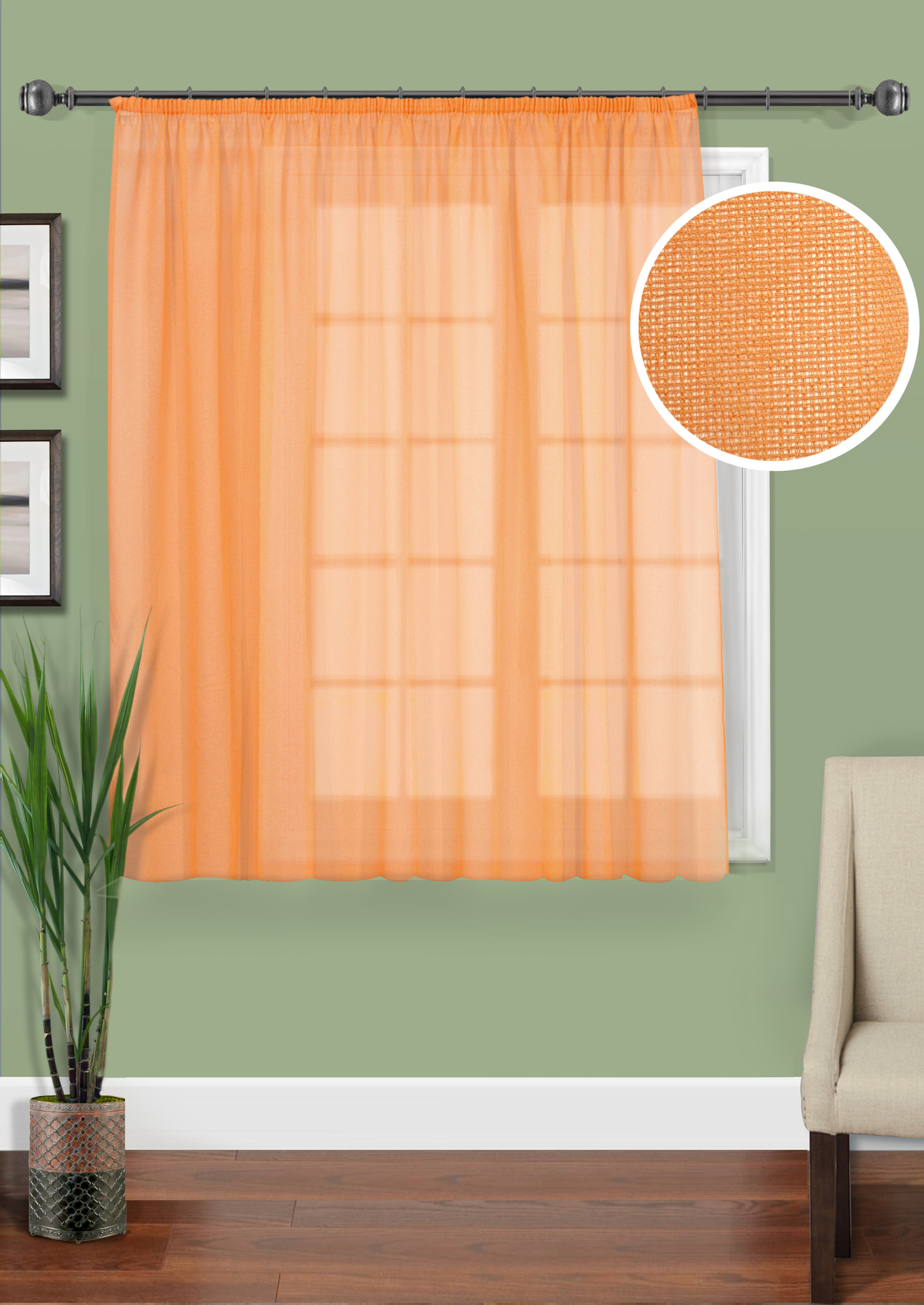 Шторы Kauffort Классические шторы Basicos-M Цвет: Оранжевый шторы kauffort классические шторы barolo