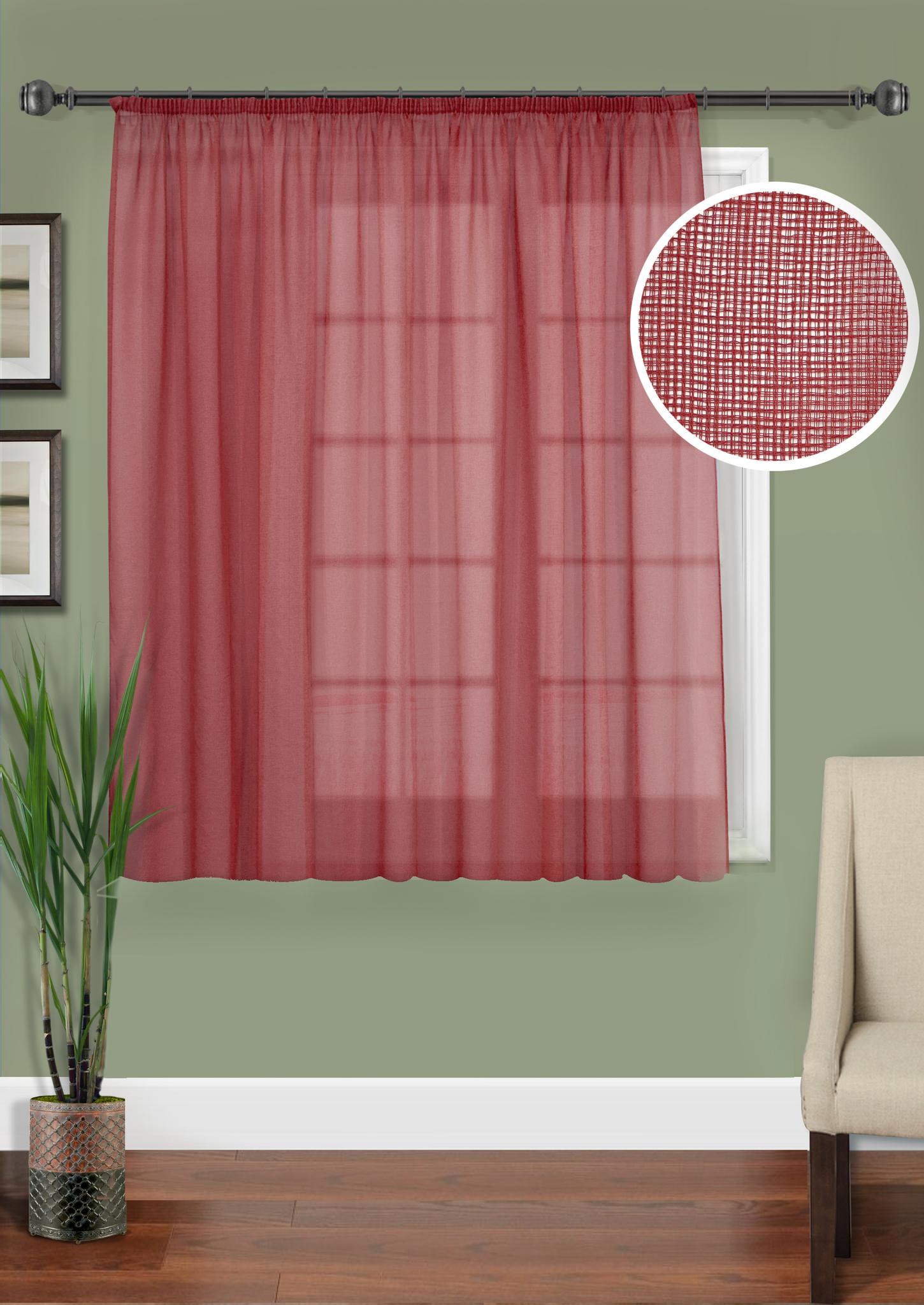 Шторы Kauffort Классические шторы Basicos-M Цвет: Бордовый шторы tac классические шторы winx цвет персиковый 200x265 см