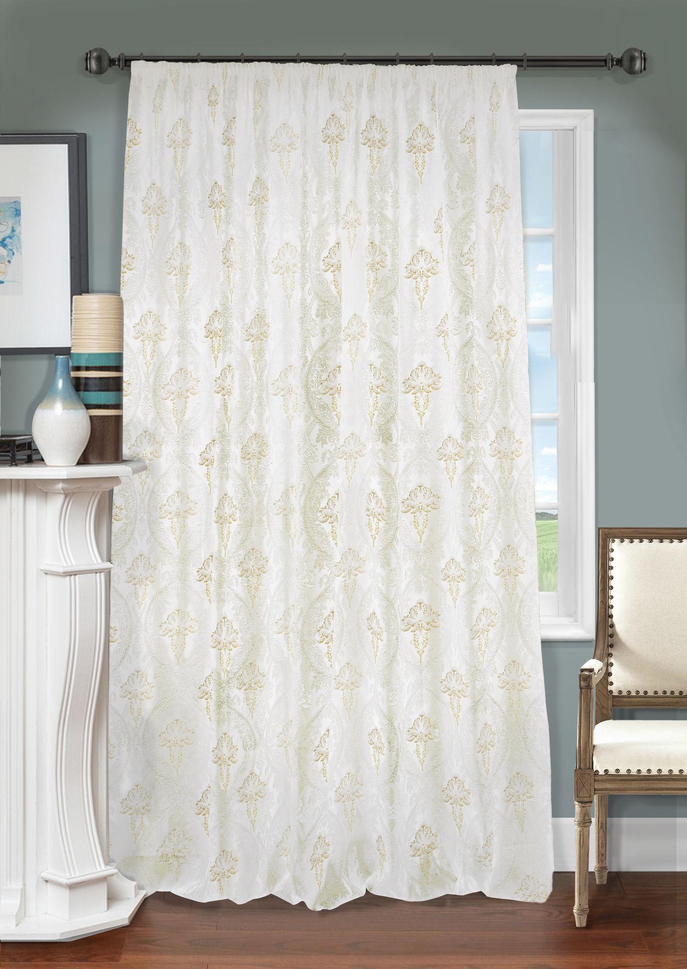 Шторы Kauffort Классические шторы Logas Цвет: Светло-Бежевый шторы primavera классические шторы maev цвет персиковый