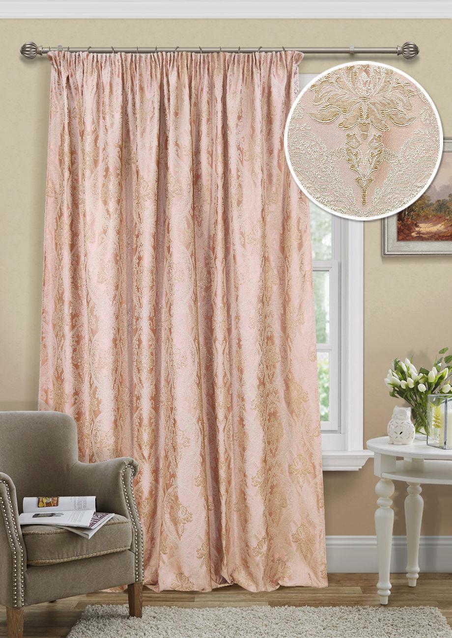 Шторы Kauffort Классические шторы Logas Цвет: Розовый шторы kauffort классические шторы barolo