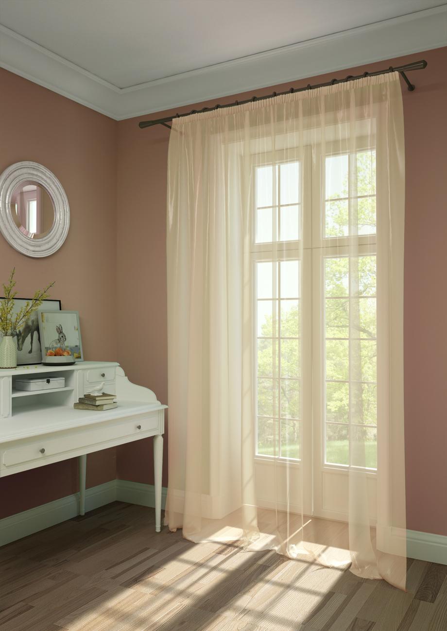 Шторы Kauffort Классические шторы Oriana-XL Цвет: Нежно-Персиковый шторы kauffort классические шторы montana xl цвет фиолетовый желтый