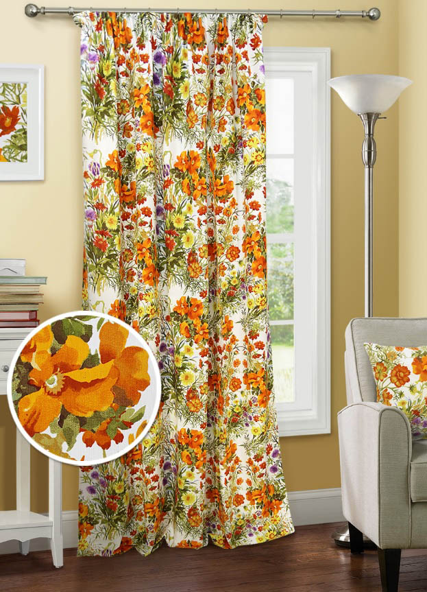 Шторы Kauffort Классические шторы Primavera Цвет: Оранжевый шторы kauffort классические шторы primavera st цвет оранжевый