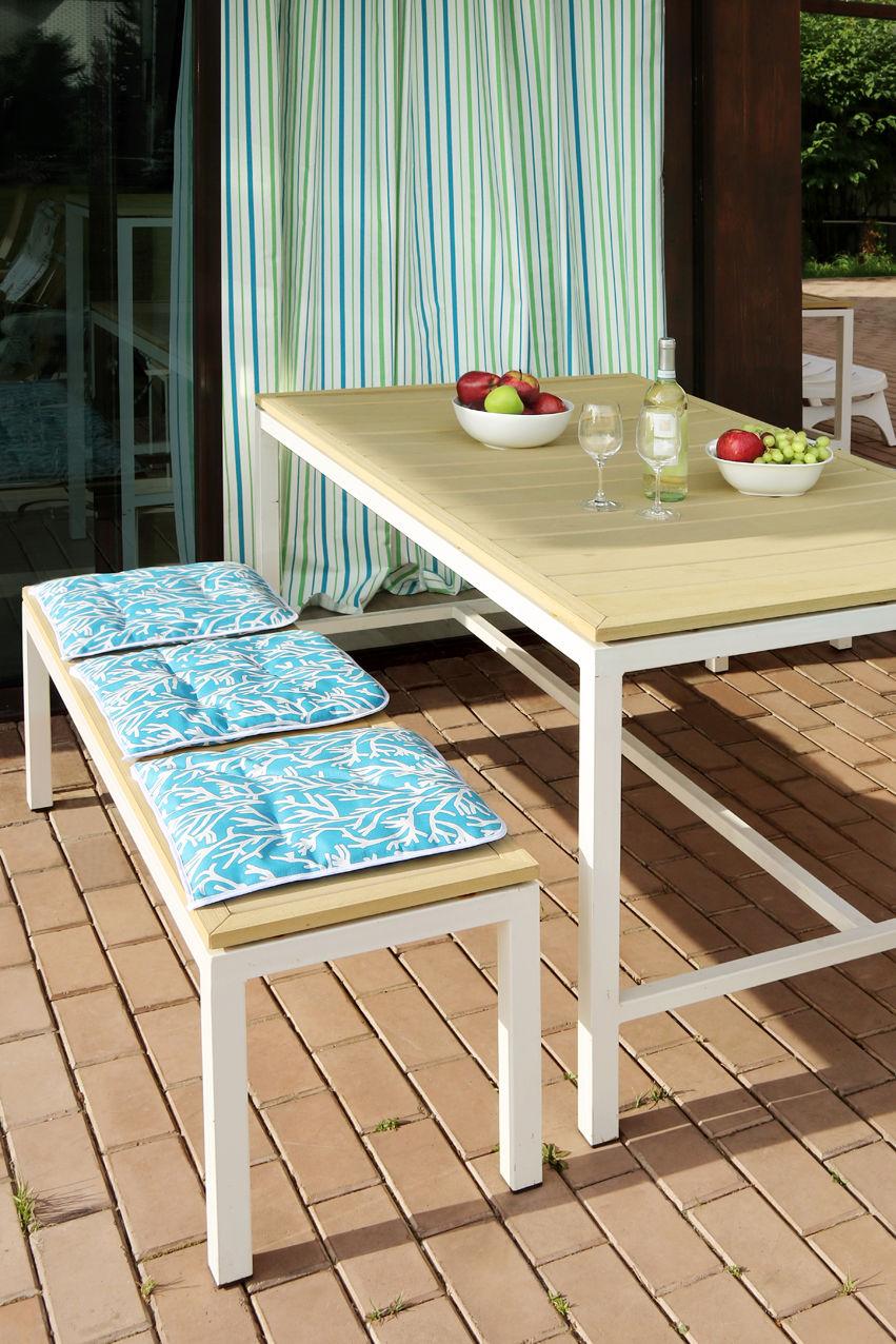 Подушки на стул Kauffort Подушка на стул Corals Цвет: Небесно-Голубой (40х40) подушка на стул арти м райский сад