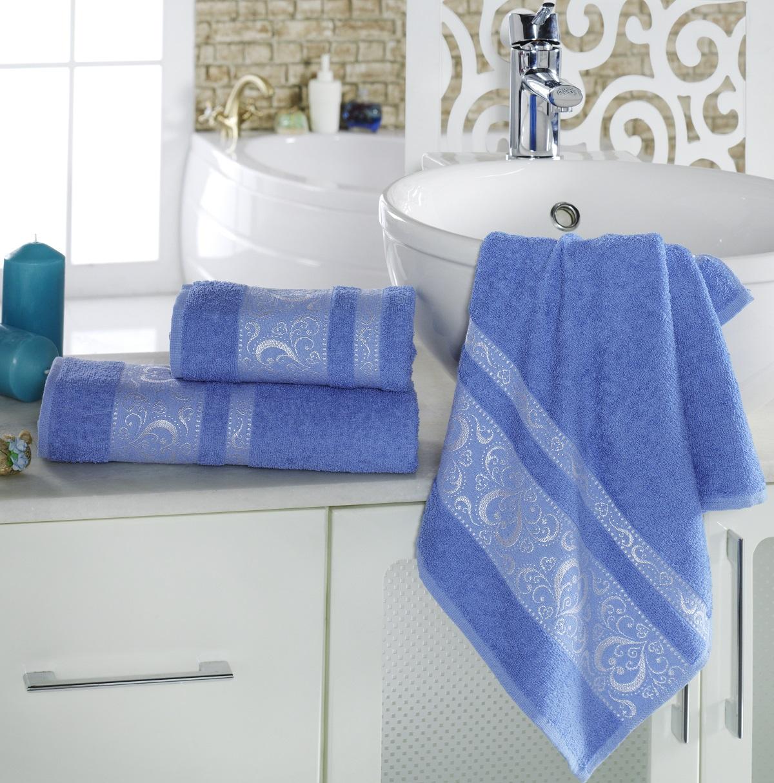Полотенца Karna Полотенце Elza Цвет:  Голубой (70х140 см) полотенца karna полотенце iteka цвет коричневый 70х140 см