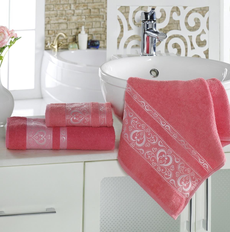 Полотенца Karna Полотенце Elza Цвет:  Коралловый (70х140 см) karna karna полотенце innes цвет красный 70х140 см