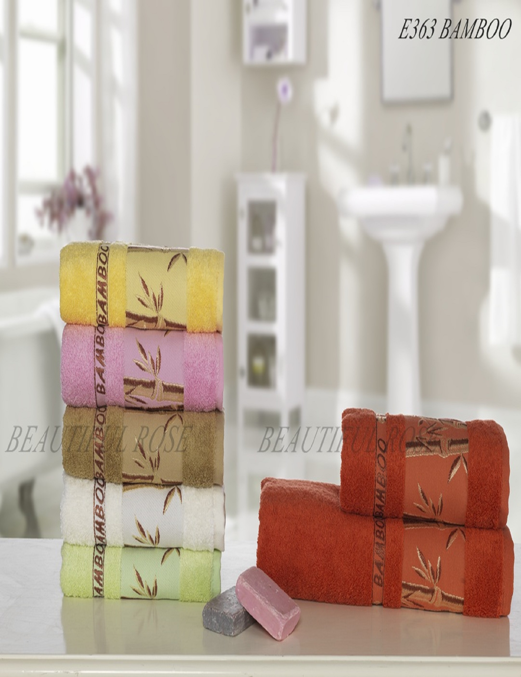Полотенца Beautiful Rose Полотенце Sarai (50х90 см - 6 шт) набор из 3 полотенец merzuka sakura 50х90 2 70х140 8432 терракотовый