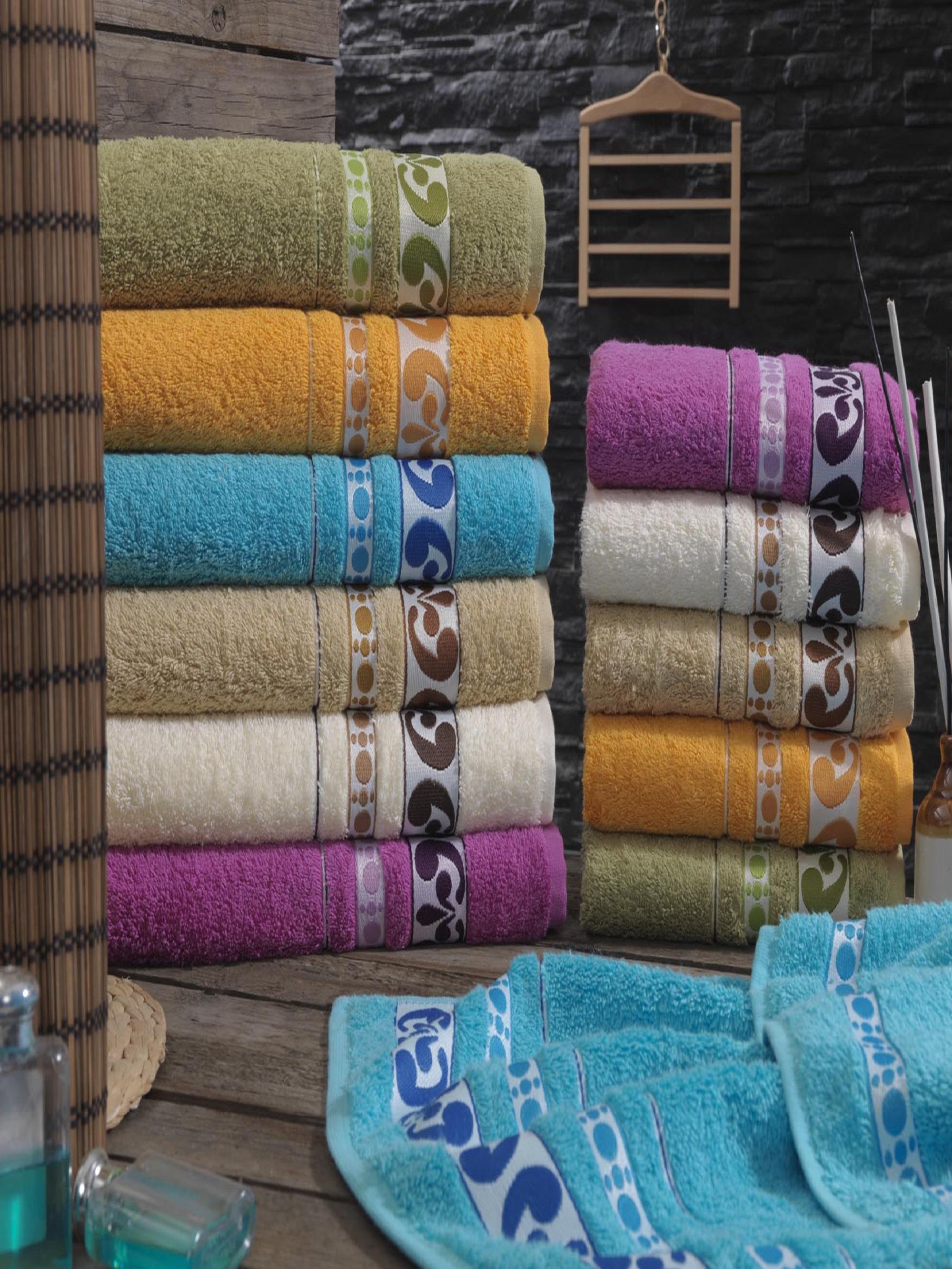 Полотенца Sikel Полотенце Yonca (70х140 см - 6 шт) sikel набор из 2 полотенец nazande цвет коричневый