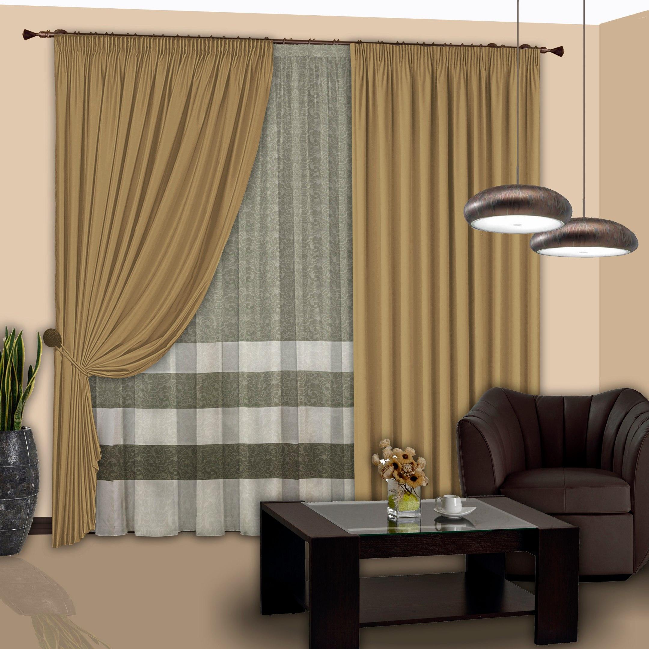 Шторы РеалТекс Классические шторы Jenessa Цвет: Бежевый шторы tac классические шторы winx цвет персиковый 200x265 см