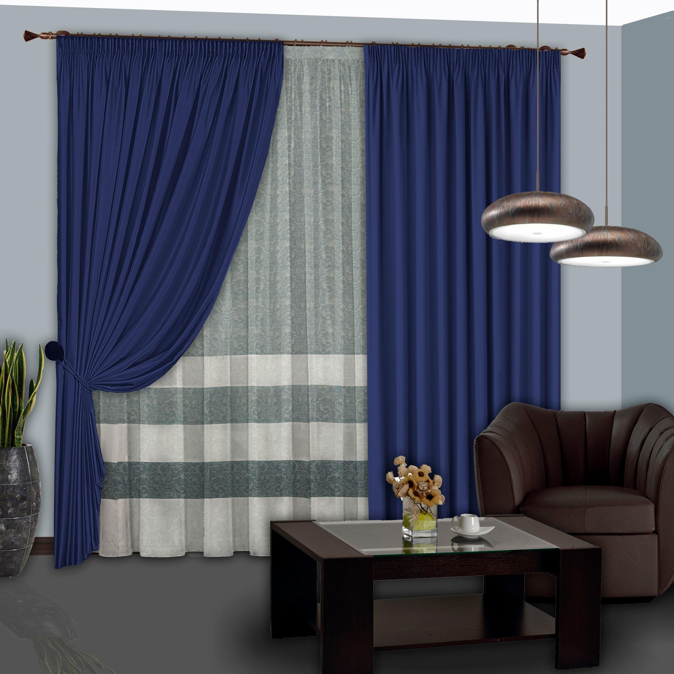 Шторы РеалТекс Классические шторы Sydnie Цвет: Синий шторы реалтекс классические шторы alberta цвет персиковый молочный