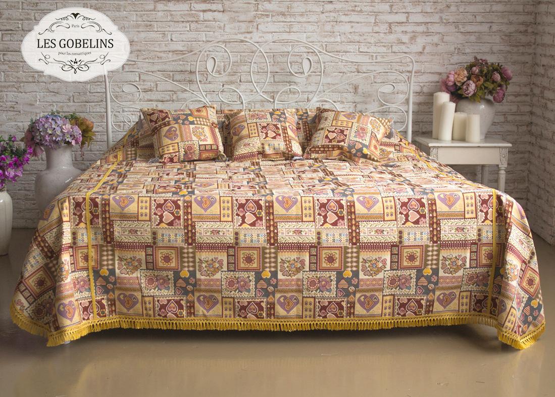где купить Покрывало Les Gobelins Покрывало на кровать Coeurs Espagnol (180х230 см) по лучшей цене