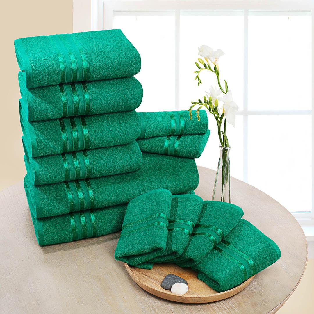 Полотенца Dome Набор из 12 полотенец Harmonika Цвет: Изумрудный