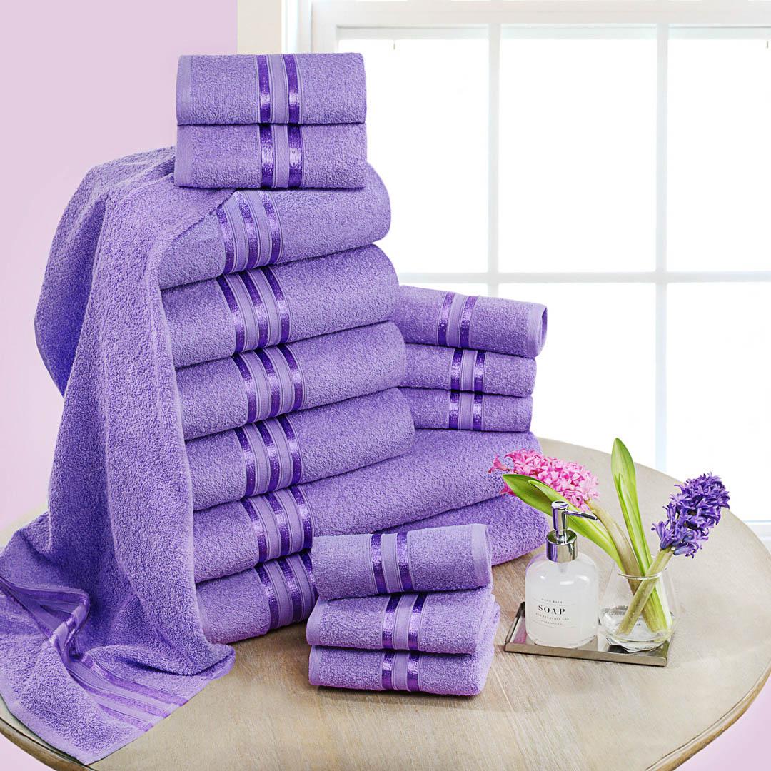 Полотенца Dome Набор из 12 полотенец Harmonika Цвет: Сиреневый