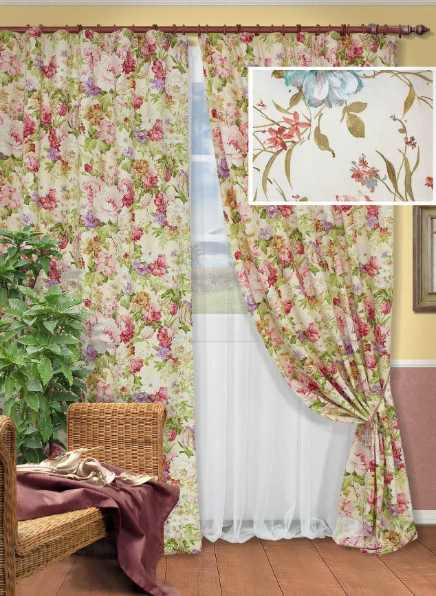 Шторы Kauffort Классические шторы Margotta - M Цвет: Красный шторы kauffort классические шторы kimberly s цвет красный