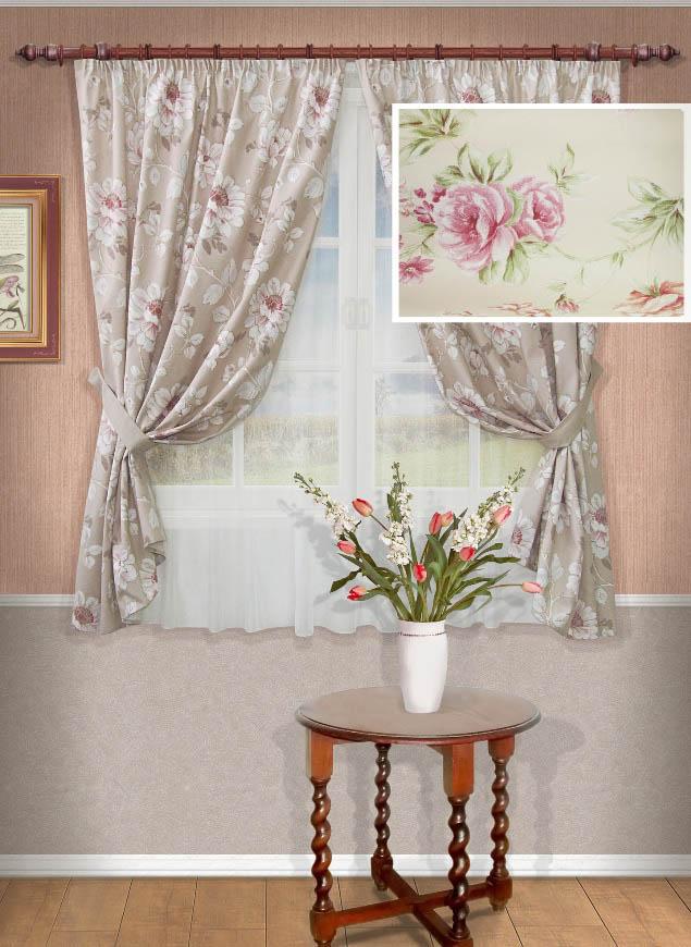 Шторы Kauffort Классические шторы Mimos Цвет: Розовый шторы интерьерные kauffort штора provence k на тесьме 136х175