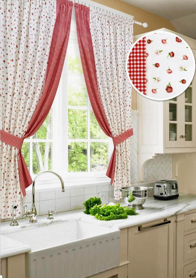 Шторы Kauffort Классические шторы Karen - S Цвет: Красный шторы kauffort классические шторы kimberly s цвет красный
