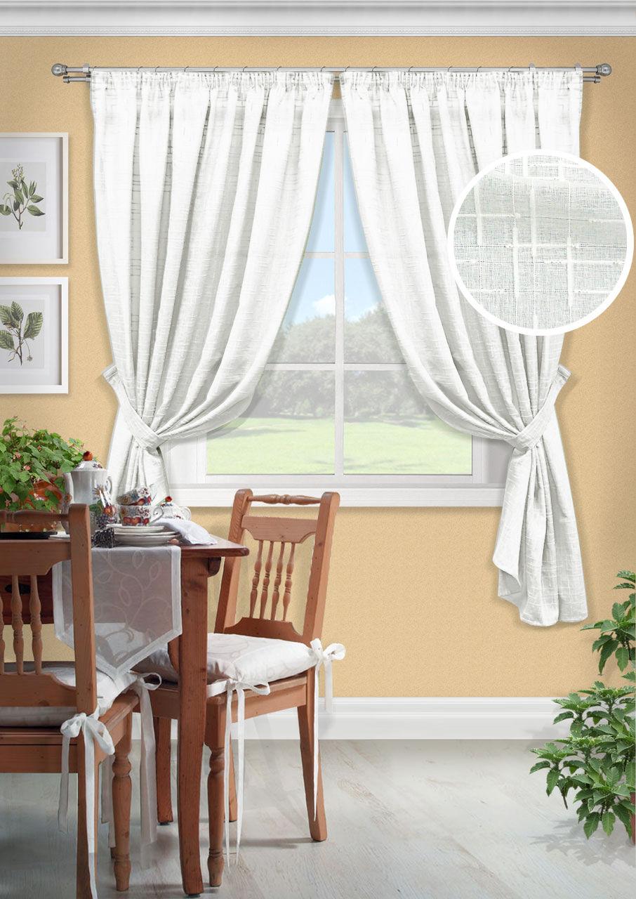 Шторы Kauffort Классические шторы Arena-S Цвет: Белый шторы kauffort классические шторы kimberly s цвет красный