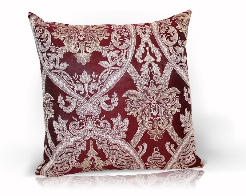 Декоративные подушки Kauffort Декоративная подушка Bergamo Цвет: Бордовый (40х40)