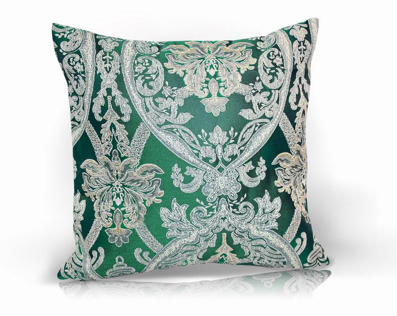 Декоративные подушки Kauffort Декоративная подушка Bergamo Цвет: Зеленый (40х40) штора kauffort barolo k