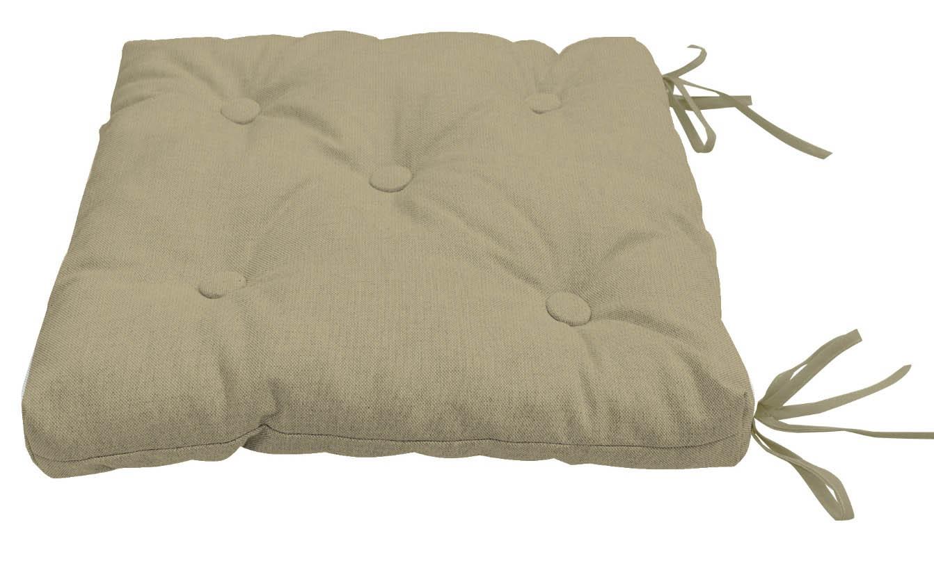 Подушки на стул Kauffort Подушка на стул Нosta Цвет: Серо-Бежевый (40х40) подушка на стул арти м райский сад
