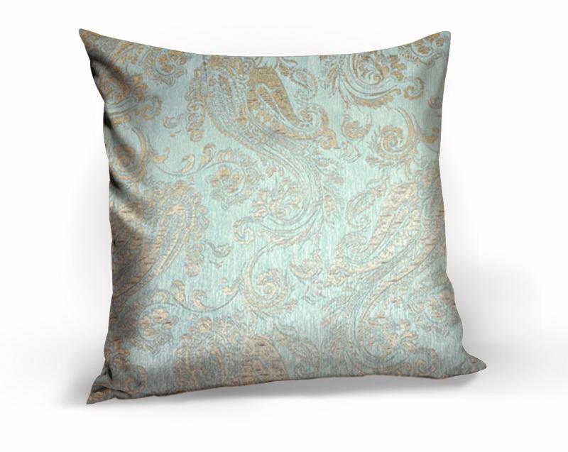 Декоративные подушки Kauffort Декоративная подушка Paisley Цвет: Бирюзовый (40х40)