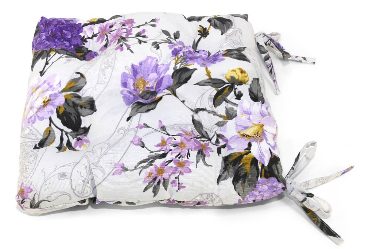 Подушки на стул Kauffort Подушка на стул Melodia Цвет: Фиолетовый (40х40) подушка на стул арти м райский сад