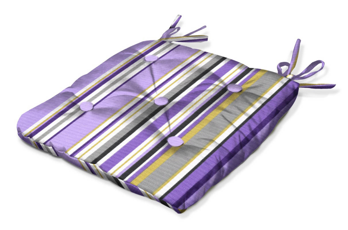 Подушки на стул Kauffort Подушка на стул Melodia Raya Цвет: Фиолетовый (40х40) подушка на стул арти м райский сад