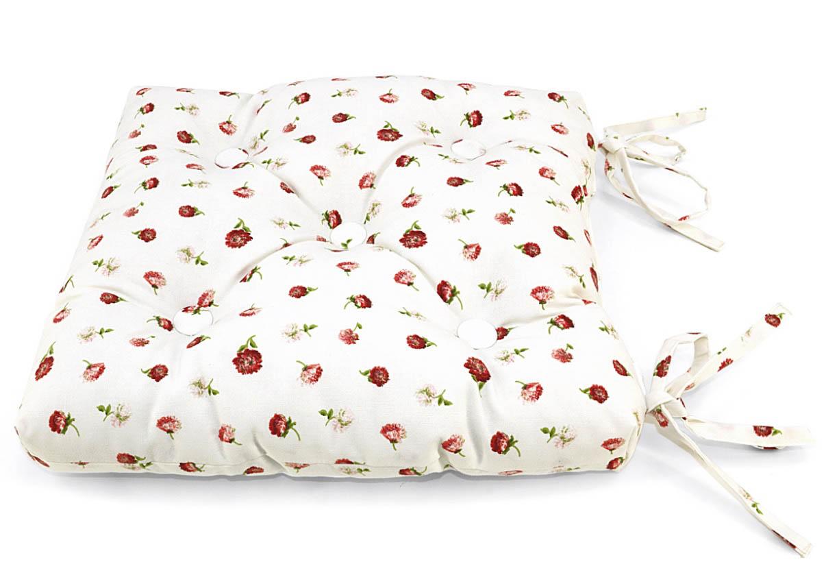 Подушки на стул Kauffort Подушка на стул Karen Цвет: Красный (40х40) подушка на стул арти м райский сад