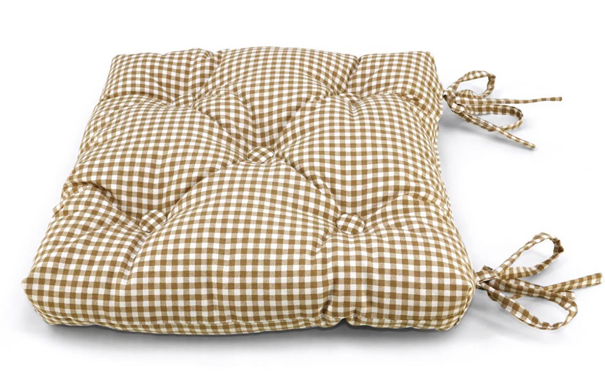 Подушки на стул Kauffort Подушка на стул Kimberly Цвет: Бежевый (40х40) подушка на стул арти м райский сад