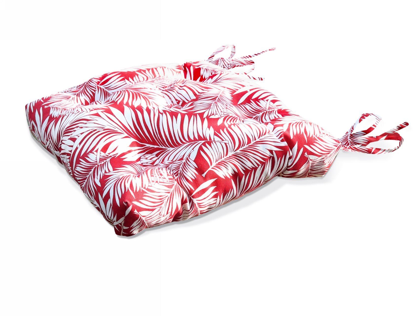 Подушки на стул Kauffort Подушка на стул Palma - S Цвет: Красный (50х50) подушка на стул арти м райский сад
