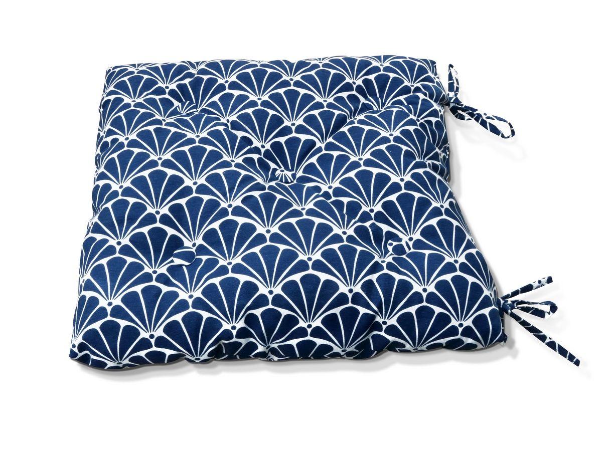 Подушки на стул Kauffort Подушка на стул Garden - S Цвет: Синий (50х50) сувениры aroma garden лампа 3d волокно синий