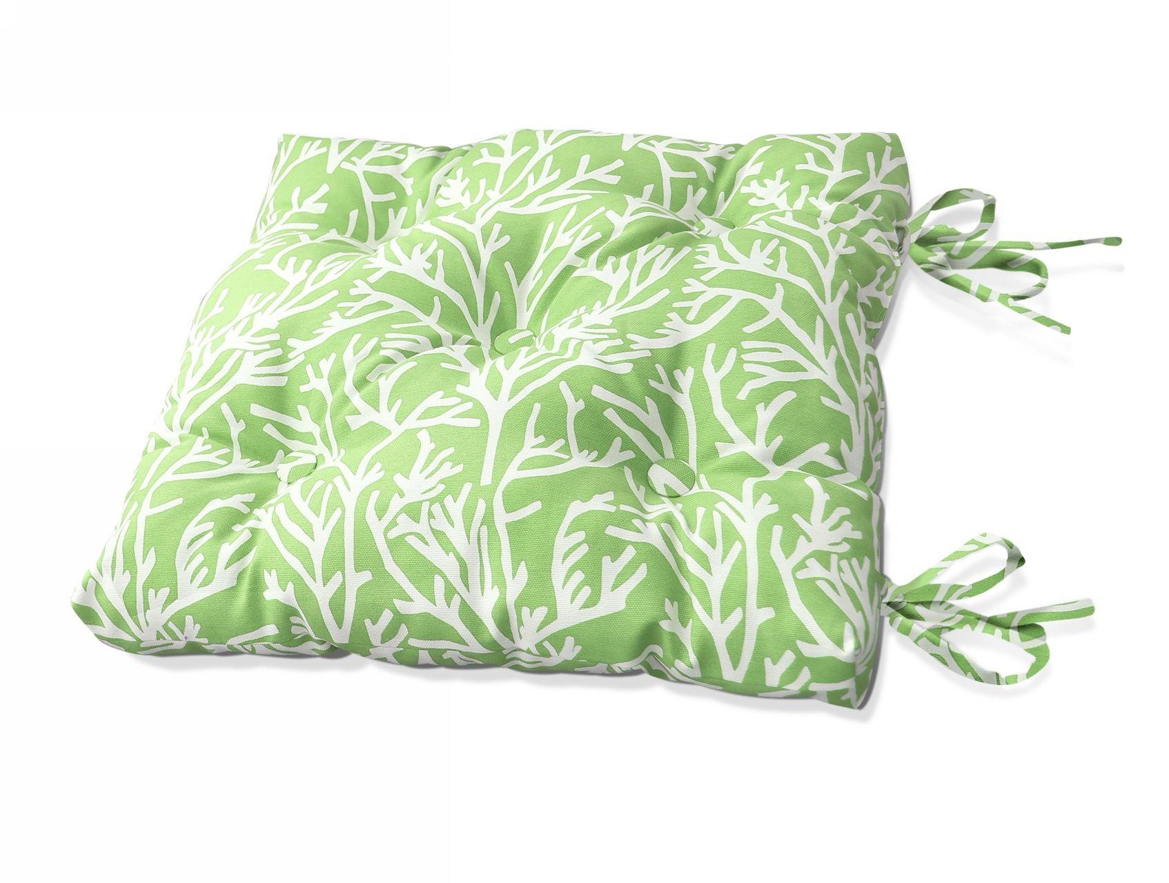 Подушки на стул Kauffort Подушка на стул Corals Цвет: Зеленый (40х40) подушка на стул арти м райский сад