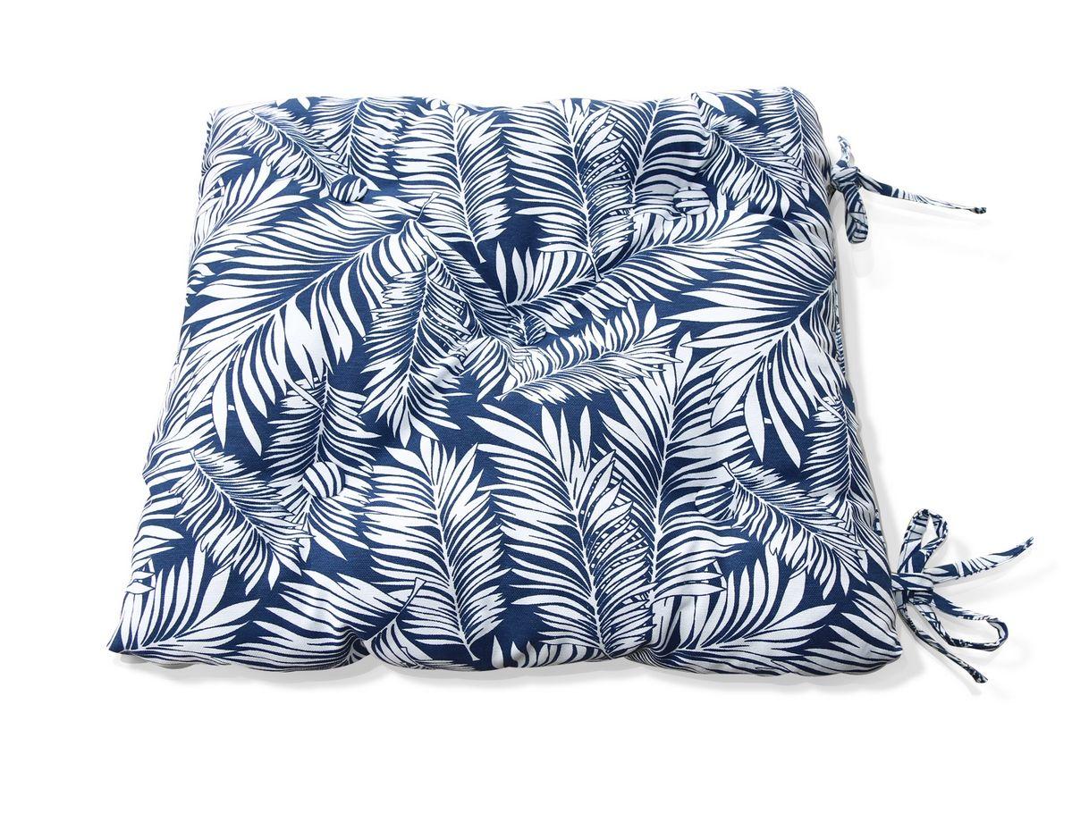 Подушки на стул Kauffort Подушка на стул Palma Цвет: Синий (40х40) подушка на стул арти м райский сад