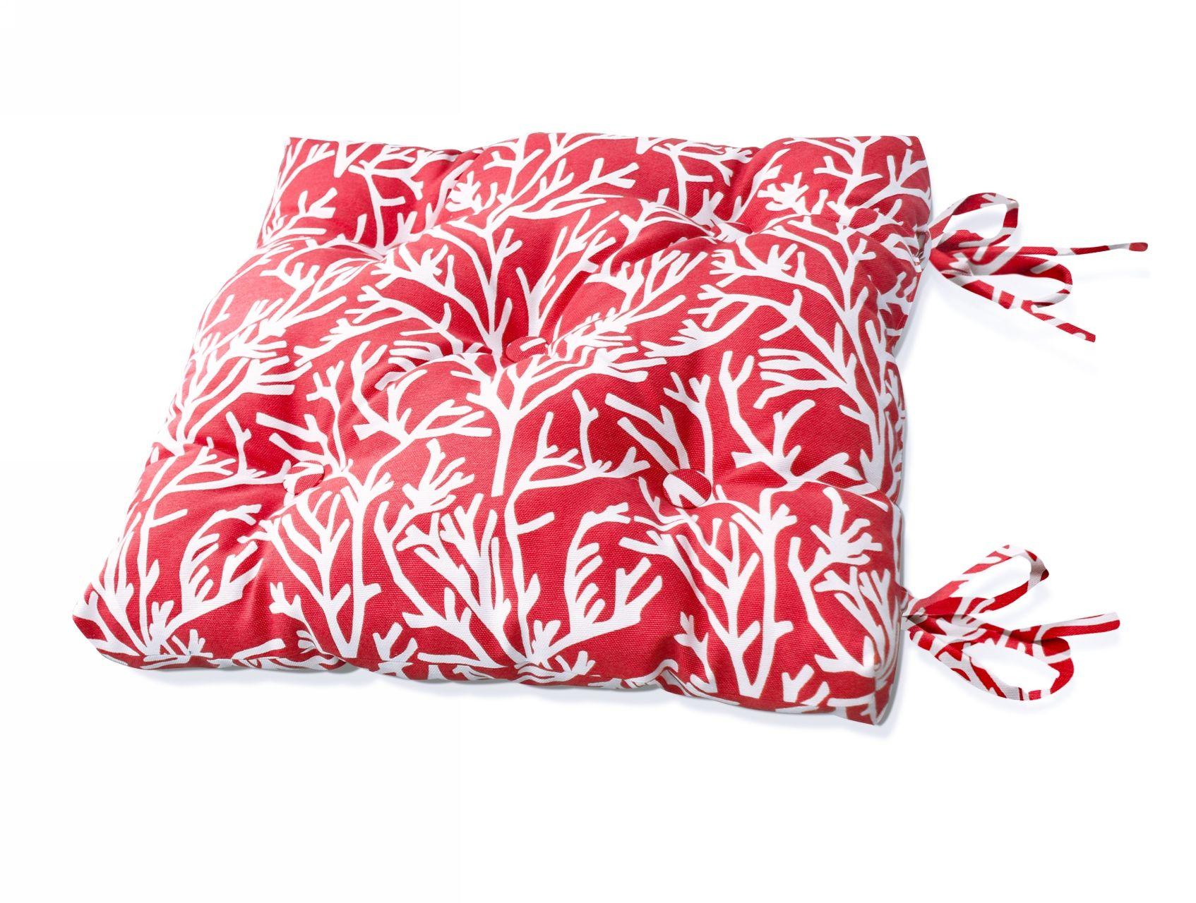 Подушки на стул Kauffort Подушка на стул Corals - S Цвет: Красный (50х50) подушка на стул арти м райский сад